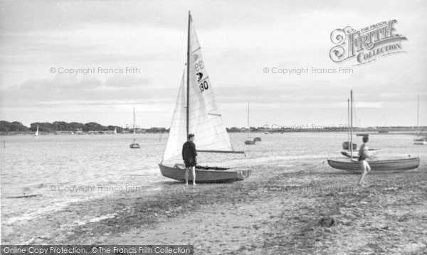 Photo of West Wittering, Yachts On The Shore c.1960