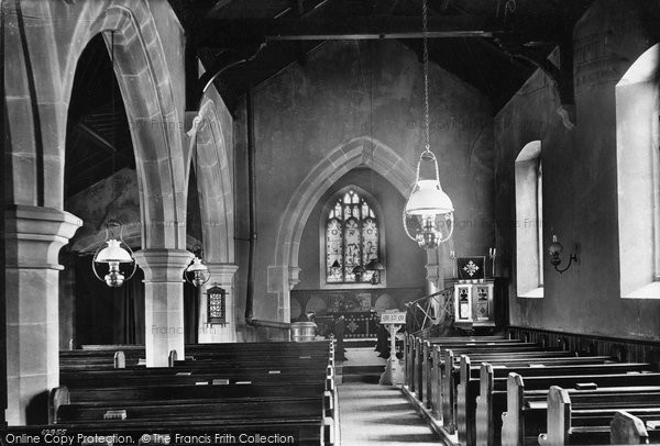 Photo of West Witton, Church Interior 1911