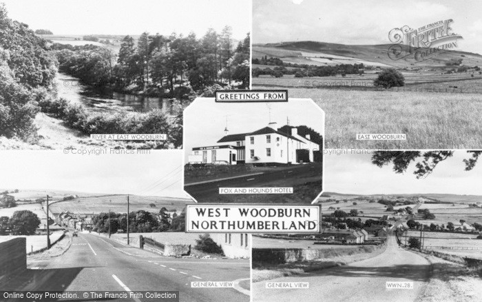 Photo of West Woodburn, Composite c.1955