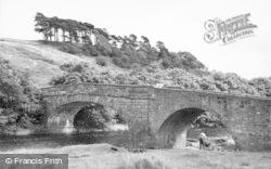 The Auld Brig c.1955, West Woodburn