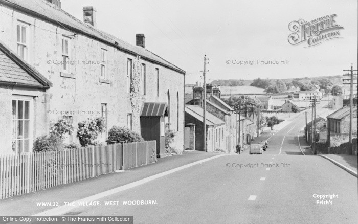 Photo of West Woodburn, The Village c.1955