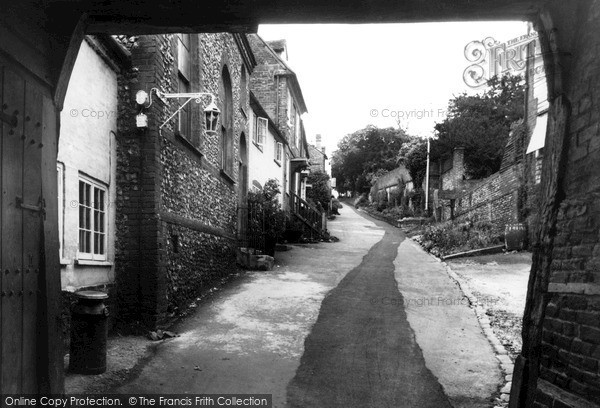 Photo of West Wycombe, Church Lane c.1955
