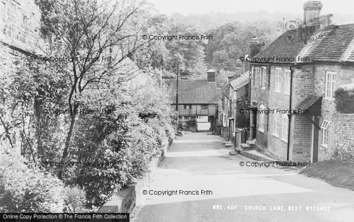 Photo of West Wycombe, Church Lane c.1960