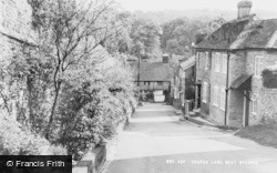 West Wycombe, Church Lane c.1960