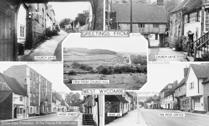 Photo of West Wycombe, Composite c.1955