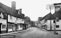 West Wycombe, High Street 1954