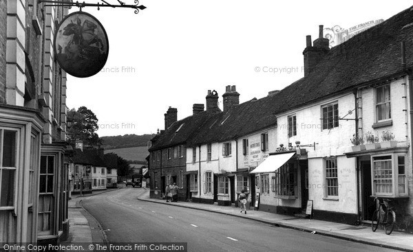 West Wycombe, High Street And George & Dragon Hotel 1954