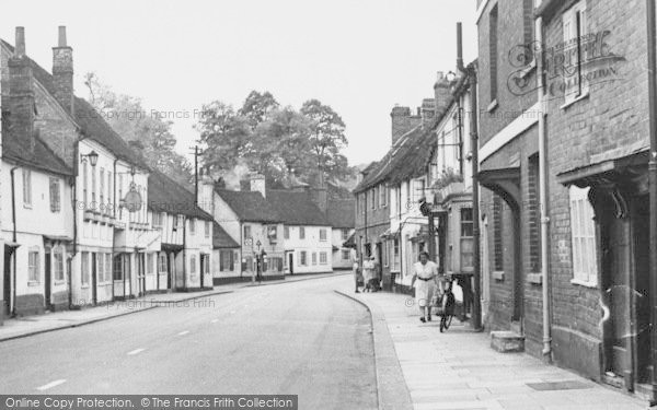 Photo of West Wycombe, People On High Street c.1955