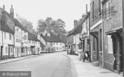 People On High Street c.1955, West Wycombe