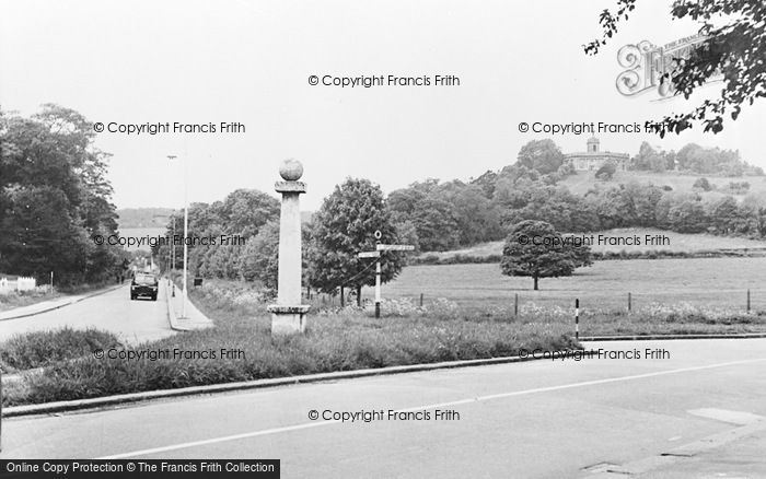 Photo of West Wycombe, The Pedestal And Church Hill c.1955