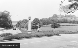 West Wycombe, The Pedestal And Church Hill c.1955