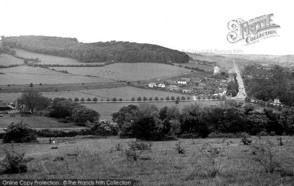 Photo of West Wycombe, View From Church Hill c.1954