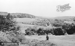 View From The Church c.1955, West Wycombe