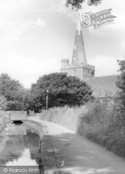The Brook, Church Path And Church c.1955, Westbourne