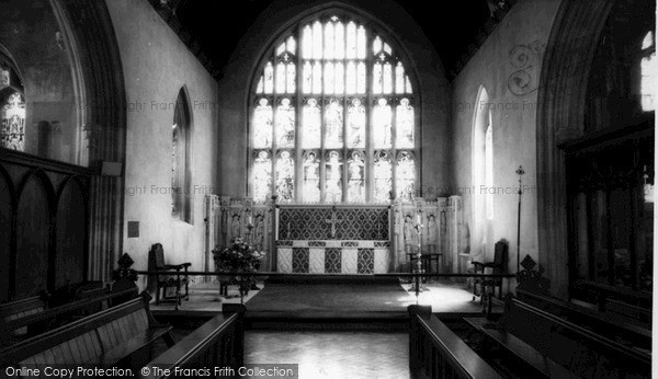 Photo of Westbury, All Saints' Church Interior c.1955
