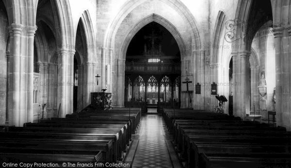 Photo of Westbury, Church Interior c.1955
