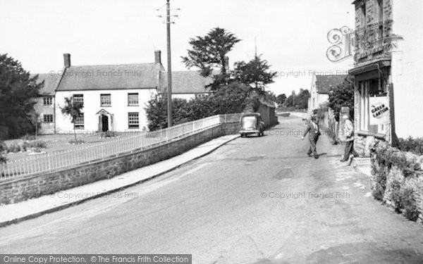 Photo of Westbury Sub Mendip, Cheddar Road c.1955