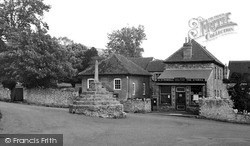 Westbury-Sub-Mendip, The Post Office c.1955, Westbury-Sub-Mendip
