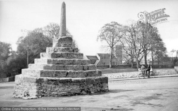 Photo of Westbury Sub Mendip, The Village Cross c.1955