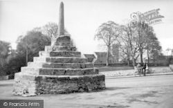 Westbury-Sub-Mendip, The Village Cross c.1955, Westbury-Sub-Mendip