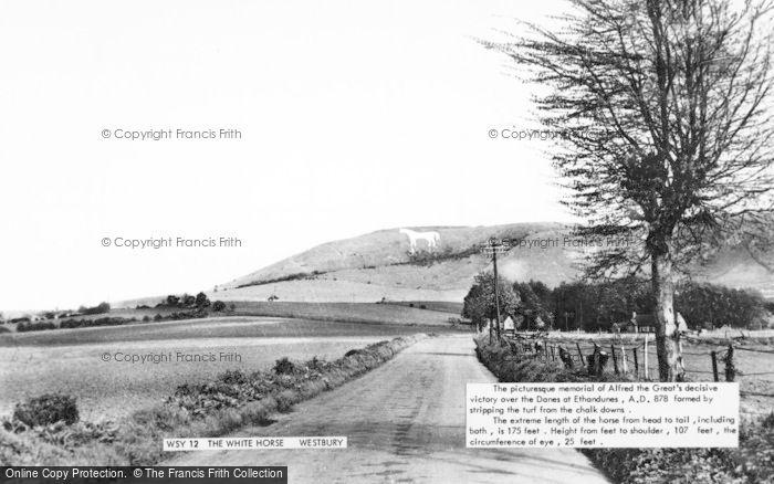 Photo of Westbury, The White Horse c.1955