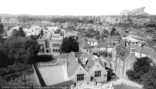 Westbury, view from Church Tower c1965