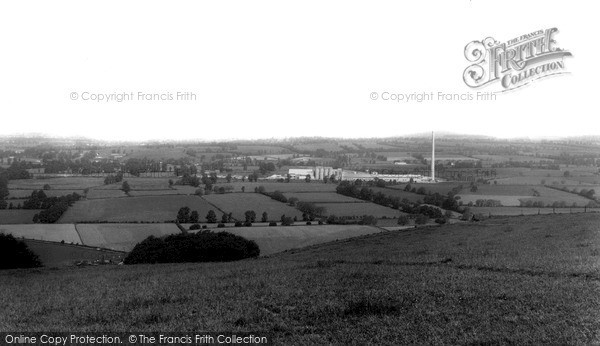 Photo of Westbury, View From The White Horse c.1965