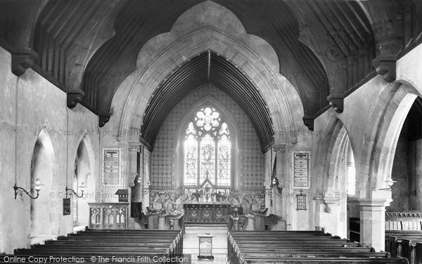 Photo of Westcott, Church Interior 1906