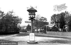 Village Sign 1922, Westcott