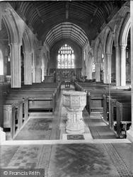 Westerham, Church Interior 1925
