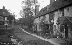 Old Cottages And Stream 1935, Westerham