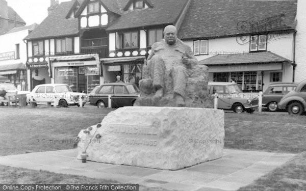 Photo of Westerham, Sir Winston Churchill Statue c.1965