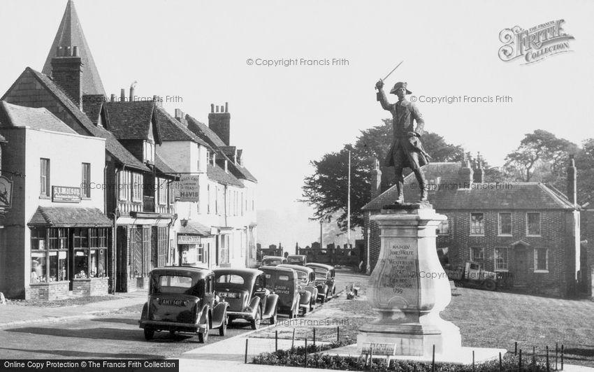 Westerham, the War Memorial c1955