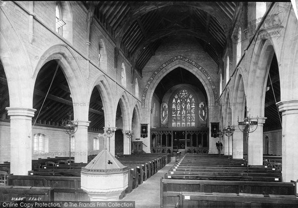 Photo of Westgate On Sea, Church Interior 1892