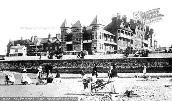 Westgate-On-Sea, Hotels and Beach 1890