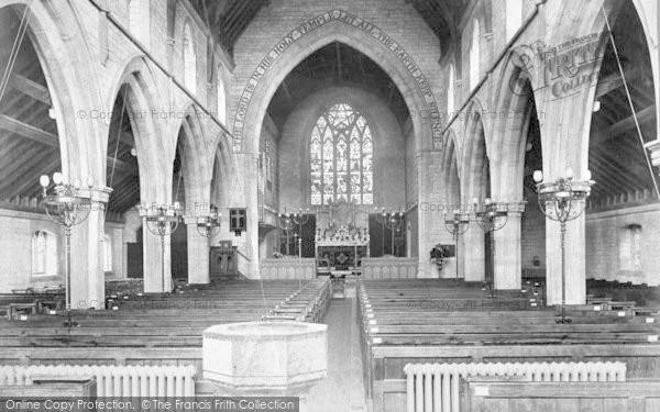 Photo of Westgate On Sea, St Saviour's Church, Interior 1907