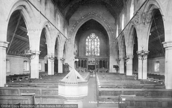 Photo of Westgate On Sea, The Church, Interior 1902