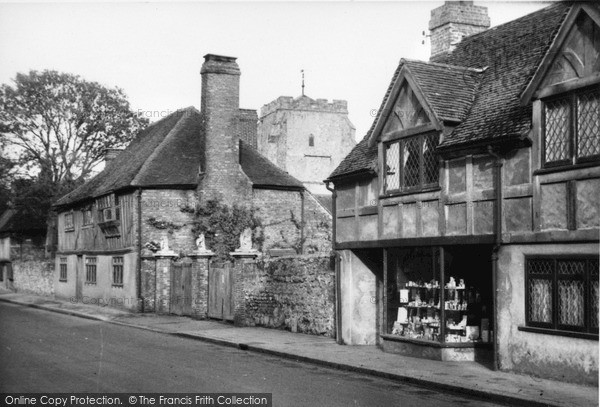 Photo of Westham, Old Houses And Church c.1955
