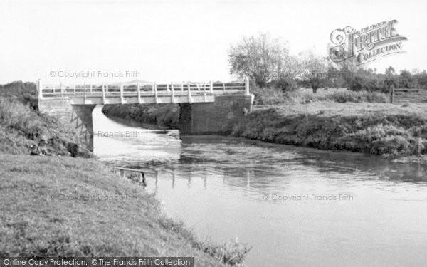 Photo of Westhay, The River Bridge c.1955
