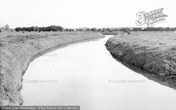 Photo of Westhay, The River c.1955