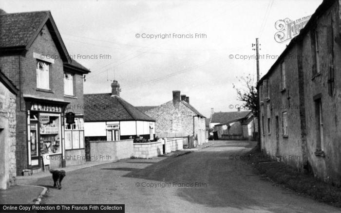 Photo of Westhay, The Village c.1955
