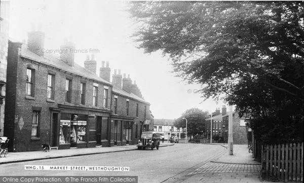 Photo of Westhoughton, Market Street c.1955