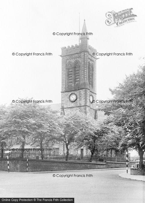 Photo of Westhoughton, St Bartholomew's Church c.1955