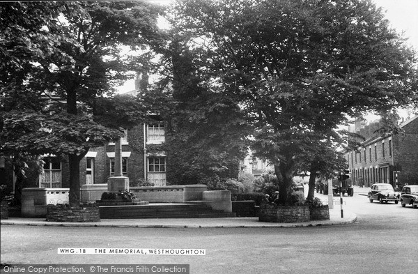 Photo of Westhoughton, The Memorial c.1955