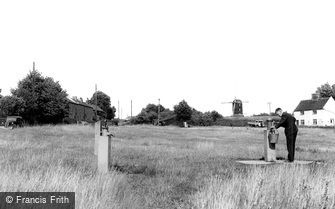 Westleton, the Village Pumps on the Green c1955