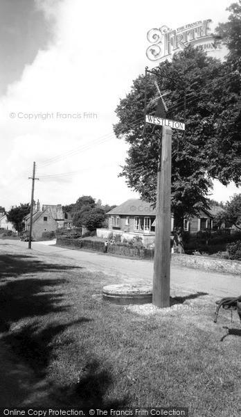 Photo of Westleton, The Village Sign c.1965