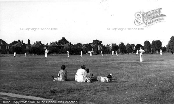 Photo of Weston Green, Cricket On The Green c.1955