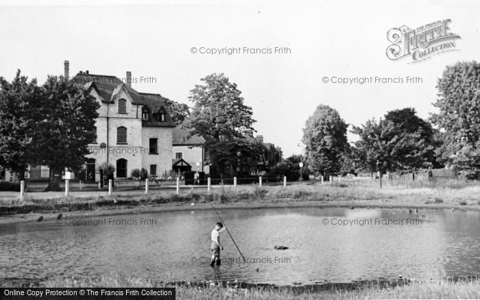 Photo of Weston Green, The Pond c.1955