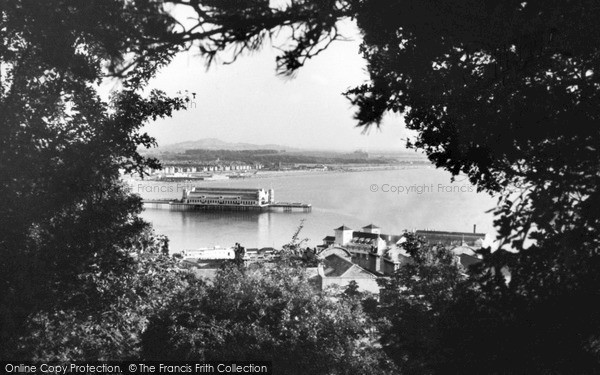 Photo of Weston Super Mare, A Peep Through The Trees c.1950