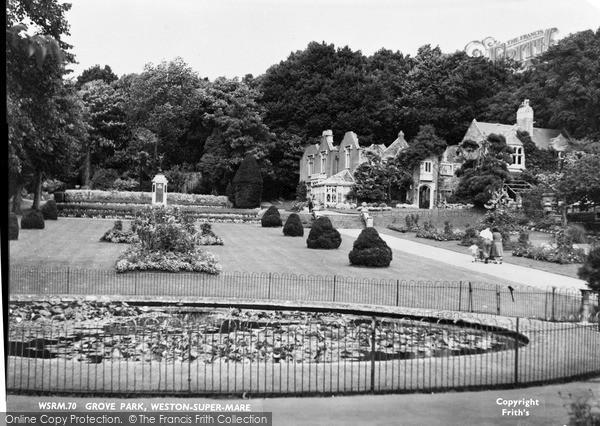 Photo of Weston Super Mare, Grove Park c.1950